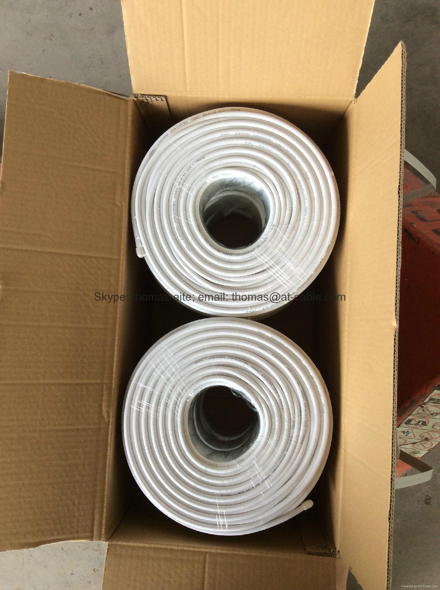 6PCS 100M COILS COAXIAL CABLE RG6