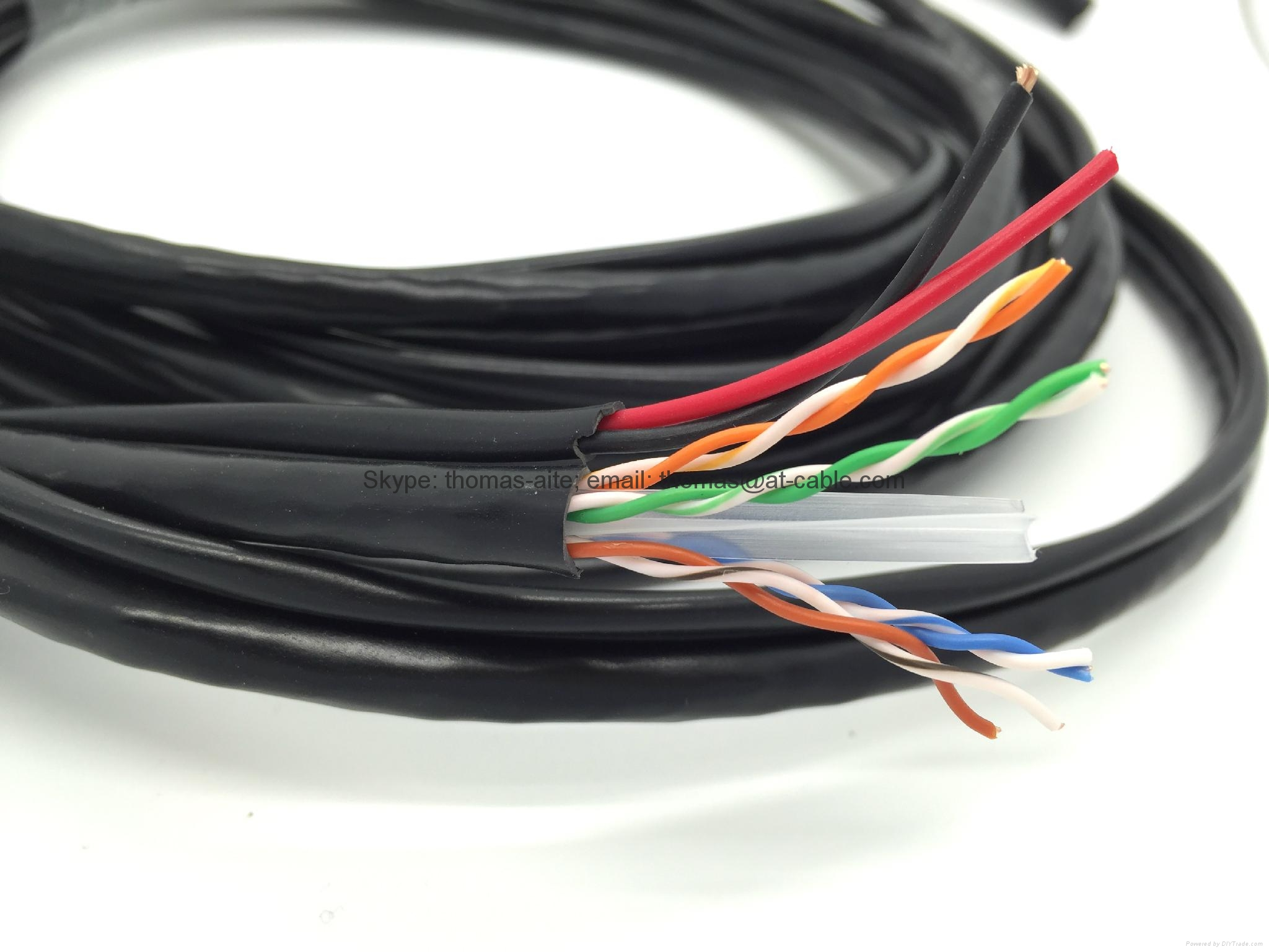 Utp Cat6 Siamese With 2c05mm2 Dc Power Ip Camera Cable Lan 2c Cctv Wiring For Home