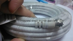 TV Patch Cord RG6 Coaxial Cable F-F Male to Male Terminal wire