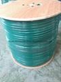 Green PVC KX6/ KX7+2Alim Power Siamese CCTV Coaxial Cable