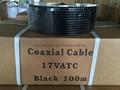 Coaxial cable 17VATC Black 100m