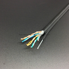 CAT5E With Steel Messenger Pure Copper Lan Cable