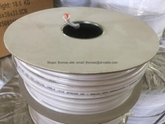 75ohm Coaxial Cable Solid OFC Conductor Air Spaced PE CCA Braid