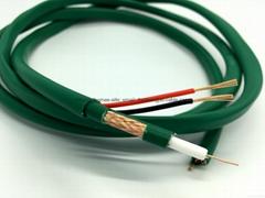 Câble hybride coaxial vidéo KX6 + alim. caméra 2x0.75 mm²