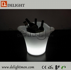 Plastic Rechargeable Remote Control Illuminated color changing led ice bucket