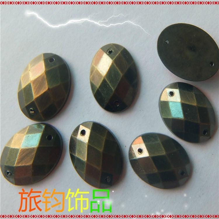 電鍍國產雙孔壓克力鑽 1