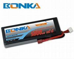5800mah 3.7V 90C 1S2P lipo battery for rc car