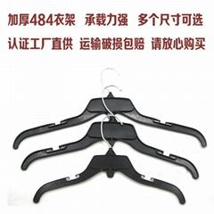 衣架批發 黑色塑料PP加厚服裝單衣架 成人多個尺碼廣東防滑衣服架