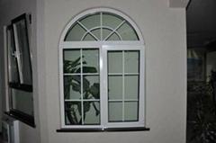 Luxury white aluminum casement windows