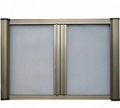 Aluminum window and door with fly net
