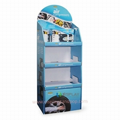 Free Standing Corrugated Cardboard Display Stand with Shelves