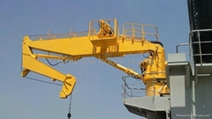 Compact structure hydraulic system knuckle boom crane with CCS approved