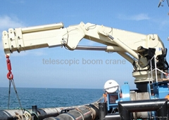 Smooth rotation and low energy consumption telescopic boom crane