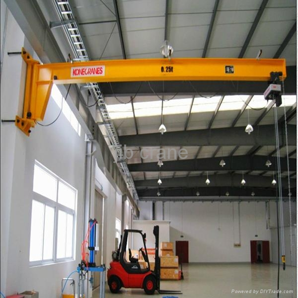 Jib Crane Maintenance : Less maintenance and simple structure wall column mounted