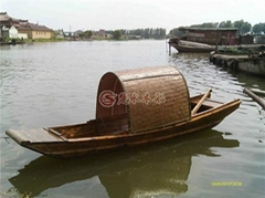 中國風仿古烏篷木船