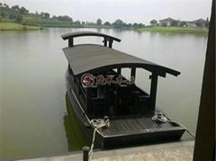 中國風仿古高低蓬木船