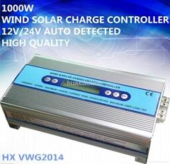 1000W 12V/24V  Solar Wind hybrid charge controller