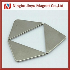 Neodymium magnets with triangle shape ndfeb N35 nickel plating for sale