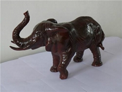招財大象工藝品樹脂擺件
