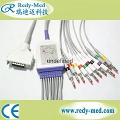 Fukuda Denshi 12 lead ekg cable,Snap Style