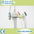 Petas 6pin 4lead ecg cable,IEC,Clip