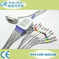 Hellige 10 lead ekg cable,banana 4.0,TPU