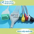 GE 11pin one-piece 5leads ecg cable