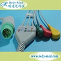 Mennen one-piece 3lead/5lead ecg cable