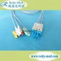Nihon Kohden Compatible 3 lead ecg cable