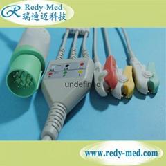 NIHON KOHDEN 11pin 3 lead ecg cable