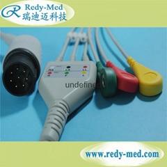 NIHON KOHDEN 8pin 3 lead ecg cable