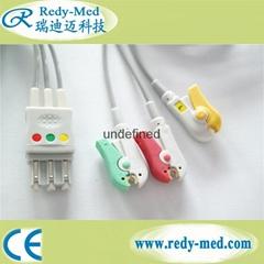 Philips M2601B 3lead ecg cable leadwire