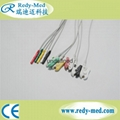 Din-Style 5 lead Safety ECG Leadwire