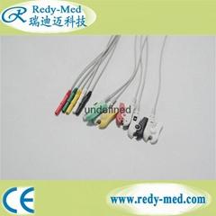 Din-Style 5 lead Safety ECG Leadwire