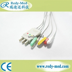 Hellige/Dtex-Ohmeda 3Lead ECG cable leadwire.