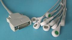 Mortara DB15PIN 10LEAD/12LEAD ECG CABLE/EKG CABLE