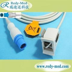 西门子/德尔格7针指夹式血氧饱和度探头