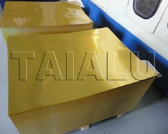 golden lacquer aluminium foil sheet for