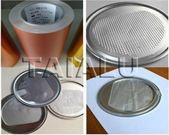 8011 heat seal aluminium foil for milk can lid