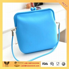 best quality silicone jelly handbag for girl