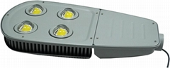 200w 3 year warranty IP65 waterproof LED street lights with two COB LIGHTS and C