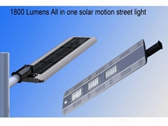Hot Selling 1800 Lumens Own Design  Integrated Solar Led Street Light with CE