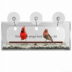 acrylic bird feeder