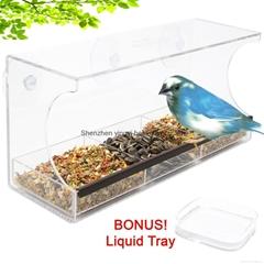 Large Window Bird Feeder w/ Bonus Water Tray