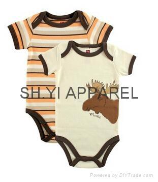 Lovely 2 pcs Newborn baby bodysuit  1