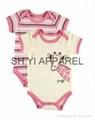 Lovely 2 pcs Newborn baby bodysuit  2