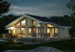 hot sales single storey wooden house