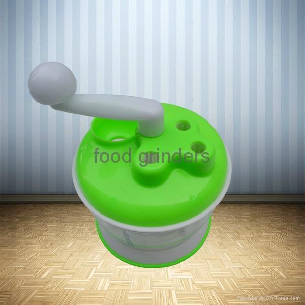 Hand-Operated Vegetable Chopper Food Processor Shredder Meat Grinder Mincer 1