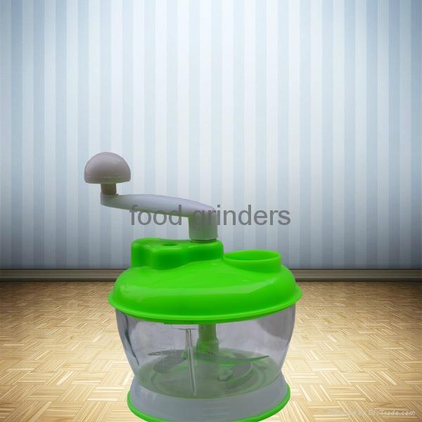 Hand-Operated Vegetable Chopper Food Processor Shredder Meat Grinder Mincer 2