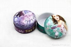 small lip balm tin jar cosmetics tins box china factory